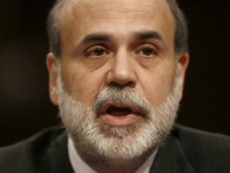 11月29日、FRBのバーナンキ議長、最近金融市場での混乱が再燃し、米経済見通しが悪化していると言明、追加利下げに前向きな姿勢示す。8日撮影(2007年 ロイター/Jason Reed)