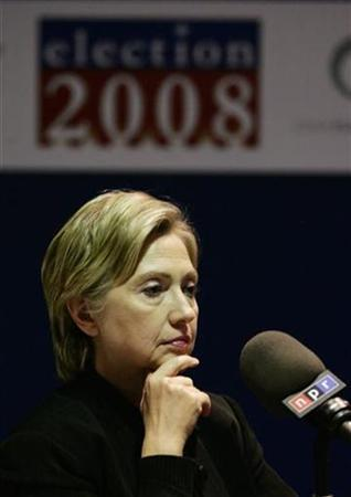 Senator Hillary Clinton (D-NY) is pictured at a Democratic Party Public Radio Debate in Des Moines, Iowa, December 4, 2007. REUTERS/Jason Reed