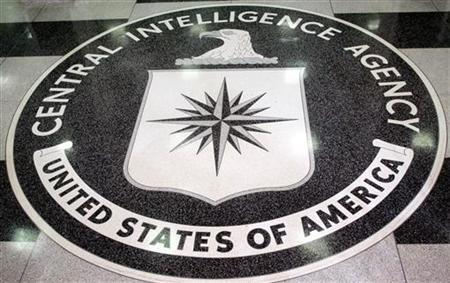 The logo of the Central Intelligence Agency is shown in the lobby of the CIA headquarters in Langley, Virginia, March 3, 2005. The CIA acknowledged making videotapes to document interrogations of terrorism suspects that used techniques critics have denounced as torture, and said on Thursday it had destroyed the recordings. REUTERS/Jason Reed