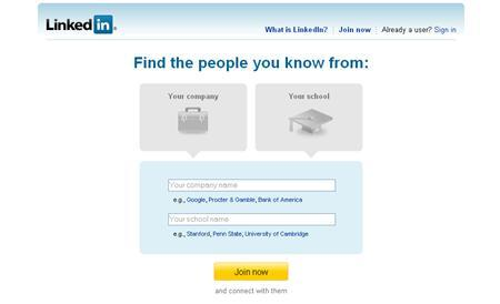 A screenshot of LinkedIn.com, taken on December 10, 2007. LinkedIn, an Internet social network for professionals, will open up its service on Monday to outside software developers, starting with BusinessWeek magazine, to transform itself from an online contacts and referral database into an indispensable daily tool for business users. REUTERS/www.linkedin.com