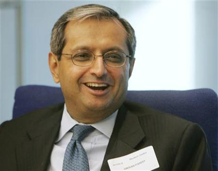 Vikram S. Pandit speaks at the Reuters Finance Summit in New York on November 10, 2004. Citigroup on Tuesday named Pandit, head of its institutional clients group, as chief executive and said Win Bischoff would serve as nonexecutive chairman, effective immediately. REUTERS/Peter Morgan PM
