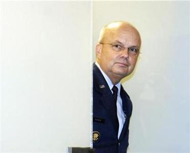 CIA Director Michael Hayden departs after a closed-door session with the Senate Select Intelligence Committee on Capitol Hill, December 11, 2007. REUTERS/Jonathan Ernst