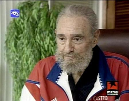Television footage shows Cuban leader Fidel Castro speaking during a state television broadcast September 21, 2007. Castro suggested on Monday that he will not hold on to power or obstruct the rise of younger leaders, in a letter read on Cuban television. REUTERS/via REUTERS TV