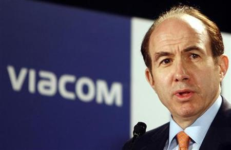 Viacom Inc. Chief Executive Philippe Dauman speaks during a news conference in Mumbai May 22, 2007. Viacom Inc said on Wednesday it has selected Microsoft Corp. as its Internet advertising partner in a five-year agreement initially valued at an estimated $500 million that involves online games, shows and movies. REUTERS/Punit Paranjpe