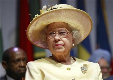 The Queen listens to speeches at Serena International Conference Centre during the opening of the Commonwealth Heads of Government Meeting in the capital Kampala November 23, 2007. The Queen becomes Britain's oldest monarch on Thursday, overtaking a milestone set by her great-great grandmother, Queen Victoria. REUTERS/James Akena