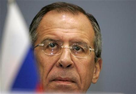 Russia's Minister of Foreign Affairs Sergei Lavrov listens during a news conference in Riga December 18, 2007. REUTERS/Ints Kalnins