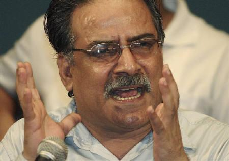 Maoist leader Prachanda is seen in Kathmandu  in this August 12, 2007 file photo. REUTERS/Ankita Shrestha/Files