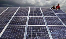 <p>Immagine d'archivio di pannelli fotovoltaici. REUTERS</p>