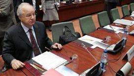 <p>Il ministro delle Finanze sloveno Andrej Bajuk. REUTERS/Francois Lenoir (BELGIUM)</p>