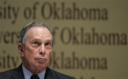 New York City Mayor Michael Bloomberg pauses during a bipartisan forum at the University of Oklahoma in Norman, Oklahoma January 7, 2008. Only 34 percent of New Yorkers would vote for him for president, a poll released on Wednesday said. REUTERS/John Gress