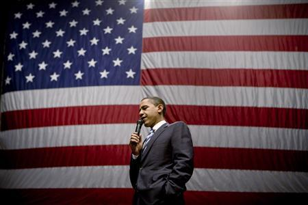 Democratic presidential candidate Sen. Barack Obama (D-IL) speaks at a rally in Reno, Nevada January 14, 2008. REUTERS/Max Whittaker