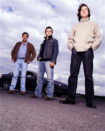 An undated publicity photo for ''Top Gear'' courtesy of BBC. The popular BBC car show is revving up a U.S. edition. REUTERS/BBC/Handout