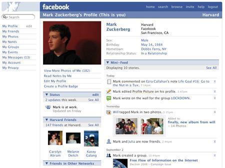 A Facebook profile is seen in a handout image. REUTERS/Facebook/Handout