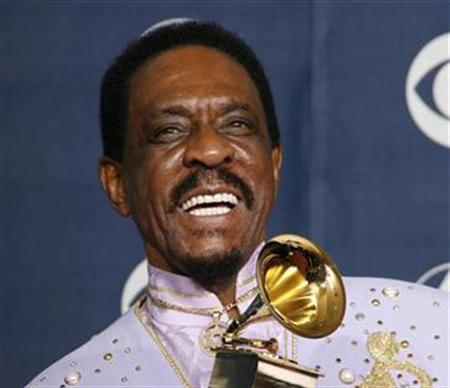Ike Turner poses with his Grammy for Best Traditional Blues Album at the 49th Annual Grammy Awards in Los Angeles, February 11, 2007. The late rock 'n' roll pioneer died of a cocaine overdose, the San Diego County medical examiner said on Wednesday. REUTERS/Mike Blake