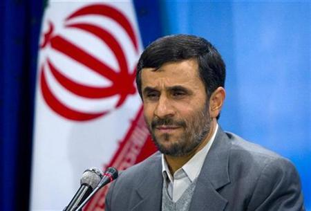 Iranian President Mahmoud Ahmadinejad speaks during a news conference in Tehran, December 11, 2007. Ahmadinejad said on Thursday that Israel ''would not dare attack Iran'', after Israel said it tested a missile and warned against Tehran's nuclear program. REUTERS/Raheb Homavandi