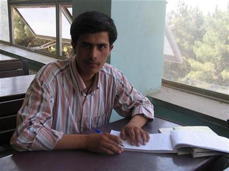 Afghan journalist Sayed Perwiz Kambakhsh is seen in this handout photo. REUTERS/Family handout