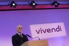 <p>Jean-Bernard Lévy, président du directoire de Vivendi. Le groupe de médias fait état d'une hausse de 8,0% de son chiffre d'affaires, à 21,657 milliards d'euros, en ligne avec les attentes, soutenu par Canal+, Maroc Telecom et Vivendi Games. /Photo d'archives/REUTERS/Benoît Tessier</p>