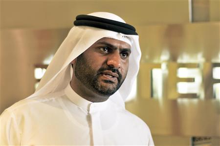 Chairman of Amlak Finance Nasser el-Sheikh speaks during the Reuters Islamic Finance Summit in the Reuters offices in Dubai February 5, 2008. REUTERS/Jumana El Heloueh