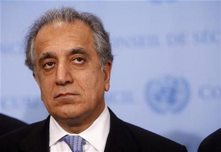 U.S. Ambassador to the U.N. Zalmay Khalilzad listens to a question outside the UN Security Council chambers after members of the European Union and other supporting nations failed in their attempt to persuade Russian and Serbian delegates in a bid to reach an agreement for the independence of Kosovo, in New York, December 19, 2007. Secretary of State Condoleezza Rice mildly chastised Khalilzad on Wednesday for joining Iranian Foreign Minister Manouchehr Mottaki in a panel debate in Davos last month. REUTERS/Chip East