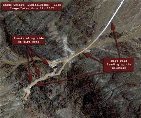 A June 2007 satellite image of Iran's Natanz Uranium Enrichment plant. Iran is testing an advanced centrifuge at its Natanz nuclear complex, diplomats said on Wednesday, a move that could lead to Tehran enriching uranium much faster and gaining ability to build atom bombs. REUTERS/Courtesy of DigitalGlobe-ISIS/Handout
