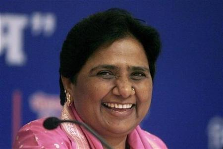 Uttar Pradesh Chief Minister Mayawati smiles after her birthday celebrations in New Delhi January 15, 2008. REUTERS/Tanushree Punwani