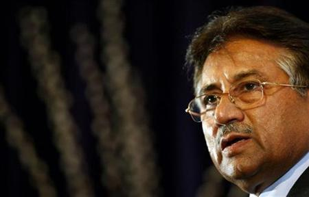 Pakistan's President Pervez Musharraf speaks at the Royal United Services Institute (RUSI), in central London January 25, 2008. Seventy-five percent of Pakistanis want Musharraf to quit, according to a survey released by the U.S.-based International Republican Institute on Monday. REUTERS/Alessia Pierdomenico