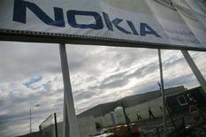 <p>Un cartellone pubblicitario Nokia. REUTERS/Mihai Barbu (ROMANIA)</p>