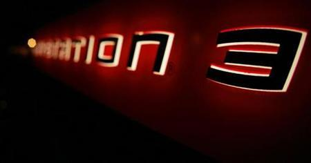 The logo of the Sony Playstation 3 is pictured at a party held by Sony celebrating the new Playstation 3 game console in Berlin March 22, 2007. Sony Corp's PlayStation 3 will double its installed base this year, posting the strongest growth of any video game console and narrowing the gap with rivals, research firm iSuppli said on Thursday. REUTERS/Hannibal Hanschke