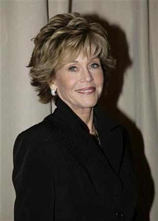 Actress Jane Fonda arrives to be honored by the Women's Reproductive Rights Assistance Project (WRRAP) during ''An Evening With Jane Fonda'' fundraiser in West Hollywood on January 19, 2008. REUTERS/Jason Redmond