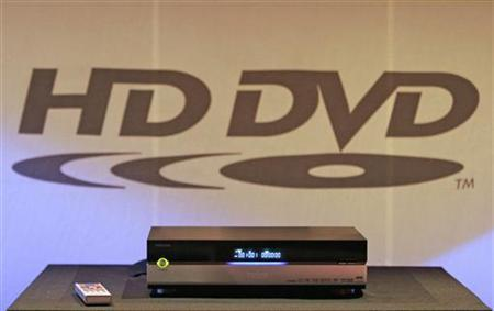 Toshiba Corporation's HD DVD player is shown at the Consumer Electronics Show in Las Vegas, in this January 4, 2006 handout file photo. REUTERS/Robert Sorbo/HD DVD Promotion Group