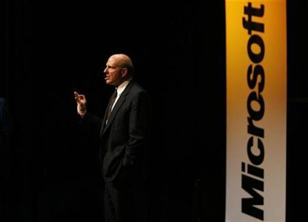 Microsoft Chief Executive Officer Steve Ballmer gestures as he delivers a speech in Zurich October 4, 2007. Respected investment manager Joe Rosenberg doesn't think much of Microsoft's unsolicited $42 billion bid for Yahoo, nor the financial savvy of its chief executive, Barron's reported in its latest issue. REUTERS/Christian Hartmann