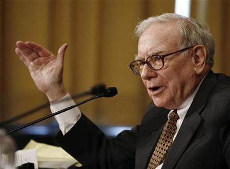 Warren Buffett, chairman and CEO of Berkshire Hathaway, speaks during a hearing about ''Federal Estate Tax: Uncertainty in Planning Under the Current Law'' on Capitol Hill in Washington, November 14, 2007. BREUTERS/Jason Reed