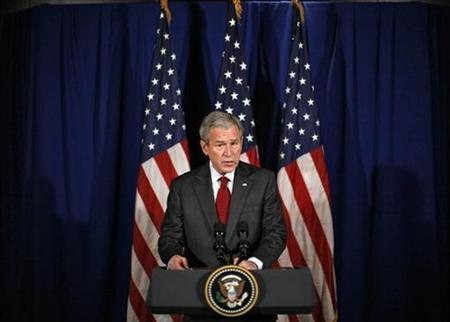 U.S. President George W. Bush makes remarks on the independence of Kosovo in Dar es Salaam, Tanzania, February 19, 2008. REUTERS/Jim Young