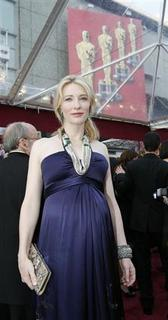 Australian actress Cate Blanchett, nominated for two Oscars for best actress in ''Elizabeth: The Golden Age'' and as best supporting actress for ''I'm Not There'' respectively, arrives at the 80th annual Academy Awards in Hollywood February 24, 2008. REUTERS/Mario Anzuoni