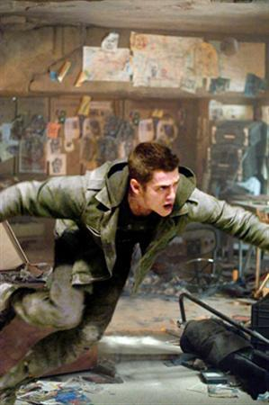 Hayden Christensen in a scene from ''Jumper''. The science fiction thriller held on to top spot at the box office for a second week, adding another 1.51 million pounds to its take, according to Screen International on Tuesday. REUTERS/20th Century Fox/Handout