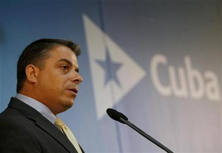 Cuba's Foreign Minister Felipe Perez Roque addresses the media during a news conference at the foreign ministry in Havana, February 13, 2008. REUTERS/Enrique De La Osa