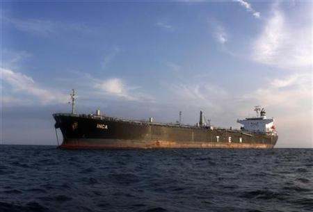 An oil tanker in a file photo. Oil vaulted more on Thursday to an all-time peak near $103 -- eclipsing the previous inflation-adjusted high set 28 years ago. REUTERS/File