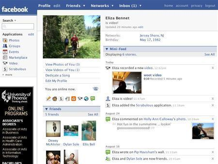 A Facebook profile in an undated screenshot courtesy of the company. Facebook said on Monday it was offering a German version. REUTERS/Handout