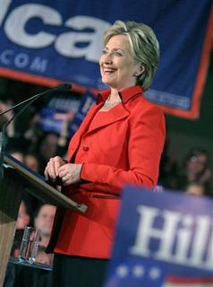 Democratic presidential candidate Senator Hillary Clinton speaks to supporters at her Ohio primary election night rally in Columbus, Ohio March 4, 2008. REUTERS/Aaron Josefczyk