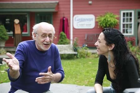 Peter Yarrow (L) speaks on his property in Woodstock, New York in an undated handout photo. Yarrow, who found fame with 1960s folk music trio Peter, Paul and Mary, is hoping that revisiting his hit song ''Puff, the Magic Dragon'' will end the belief once and for all that the song was about drugs. REUTERS/Augusta Quirk/Handout