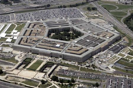 An aerial view of the Pentagon building in Washington, in this June 15, 2005 file photo. REUTERS/Jason Reed/Files