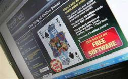 <p>Immagine d'archivio di un sito Web di giochi d'azzardo. REUTERS/Toby Melville (BRITAIN)</p>