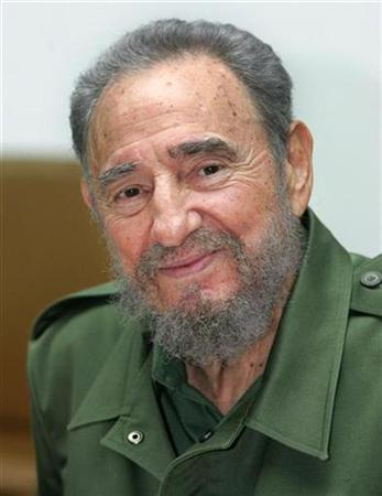 Cuba's President Fidel Castro smiles in Havana in this June 7, 2005 file photo. Castro may have retired after 49 years as Cuba's leader, but he is still busy preparing editions of his memoirs, now aimed at Asian readers. REUTERS/Claudia Daut/Files