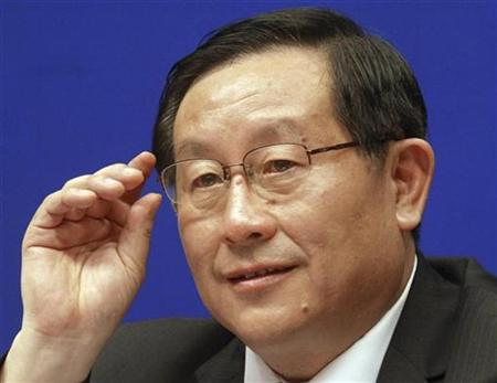Wan Gang, China's minister of science and technology, gestures during a news conference on China's Scientific Actions on Climate Change in Beijing June 14, 2007. China will tolerate experiment failures by its scientists to ease pressure, encourage innovation and cut the chances of fraud, Wan said on Thursday. REUTERS/China Daily
