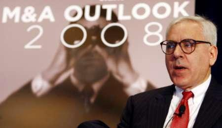 David Rubenstein, Co-Founder and Managing Director of The Carlyle Group, speaks at the ''M&A Outlook 2008'' conference in New York November 7, 2007. Carlyle Capital Corp, an affiliate of The Carlyle Group, said on Wednesday its lenders are likely to take possession of its remaining assets after it was unable to reach a mutually beneficial agreement to stabilize its financing. REUTERS/Mike Segar
