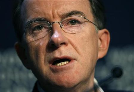 EU Trade Commissioner Peter Mandelson is shown in this file picture. REUTERS/Stefan Wermuth