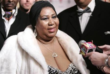 In this file photo Aretha Franklin, winner of 17 Grammy awards, is interviewed as she arrives to be honored as the 2008 MusiCares Person of the Year at a special dinner and concert in Los Angeles February 8, 2008. Franklin has been told that her $700,000 Detroit mansion faces foreclosure proceedings because of $162.14 in unpaid taxes dating back to 2005, a county official said. REUTERS/Danny Moloshok