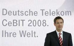 <p>Rene Obermann, CEO di Deutsche Telekom AG. REUTERS/Christian Charisius</p>