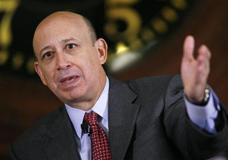 Lloyd Blankfein, Chairman and CEO of Goldman Sachs & Co., speaks at the Wall Street Journal Deals & Deal Makers conference, held at the New York Stock Exchange, June 27, 2007. REUTERS/Chip East