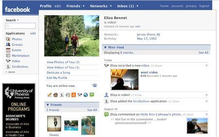 A sample Facebook profile page is seen in this handout image. REUTERS/Facebook/Handout